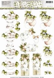3D Knipvel Precious Marieke CD10565 Rustic Christmas Baubles