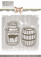 Precious Marieke Die Rustic Christmas PM10042 Milk Churn and