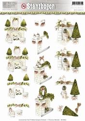 3D Stansvel Precious Marieke SB10062 Rustic Christmas