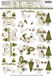 3D Knipvel Precious Marieke CD10563 Rustic Christmas