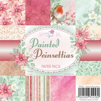 Wild Roses Studio Paper Pack PP047 Painted Poinsettias