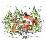 MD clear stamps Don & Daisy DDS3353 Dancing with deer
