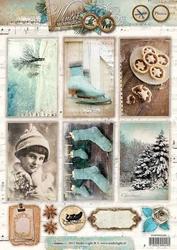 A4 Knipvel Studio Light 1350 Winter Memories Schaatsen