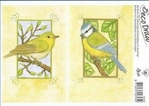 Deco Draw Borduurkaart DD009 Vogels