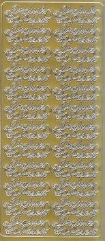 Paas Stickervel 1639 Vrolijk Pasen