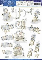 3D Knipvel Precious Marieke CD10578 Winter Wonder Winter fun