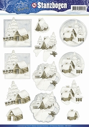 3D Stansvel Precious Marieke SB10067 Winter Wonderland
