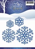 Precious Marieke's Die Winter Wonderland PM10051 Snowflakes