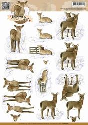 3D Knipvel Jeanines Art CD10590 Deer/herten