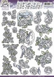 3D Knipvel Yvonne Creations CD10585 Magical Winter Flowers