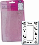 Crafts Too embossing folder CTFD3035 Frame dennenappel