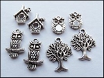 MD Set charms JU0900 Owl/uiltjes