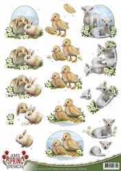 3D Knipvel Amy Design CD10608 Spring Animals