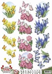 3D Stansvel Amy Design SB10079 Spring Butterflies