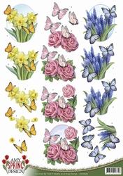 3D Knipvel Amy Design CD10609 Spring Butterflies