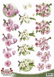 3D Knipvel Amy Design CD10610 Spring Flowers