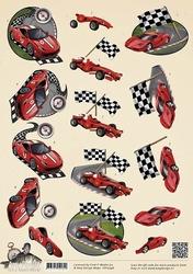 3D Knipvel Amy Design CD10596 Its a Mans World Racecars