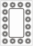 Crafts Too embossing folder CTFD3049 Daisy frame