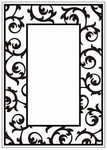 Crafts Too embossing folder CTFD3050 Scrollwork frame