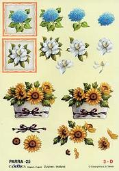 A4 Knipvel Parra 25 Bloemen in vierkant & zonnebloemen