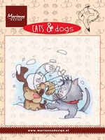 MD clear stamps CD3501 Cats & Dogs Snow fun