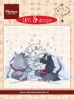 MD clear stamps CD3502 Cats & Dogs Snow fight