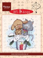MD clear stamps CD3503 Cats & Dogs Candle light