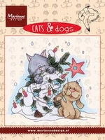MD clear stamps CD3504 Cats & Dogs Tree decorating