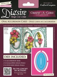 Diesire Create a Card DS-CADA-OVAL Ovale Accordion Card