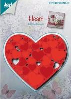 Joy! Snij-Em-Debossing stencil 6002-0481 Hart met harten