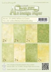 LeCreaDesign papier 510492 yellow/green