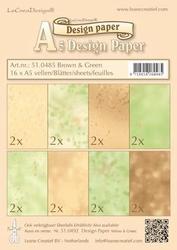 LeCreaDesign papier 510485 brown/green