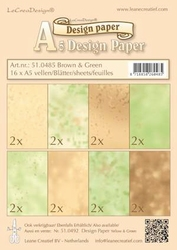 LeCreaDesign papier 510485 brown/green