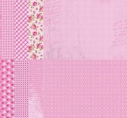 A4 Vel Nellie's Background Neva06789 Pink assortiment