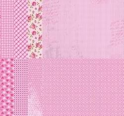 A4 Vel Nellie's Background Neva06789 Pink assortiment