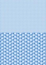 A4 Vel Nellie's Background Neva011 Blue hearts