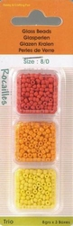 Rocailles glas parels dekkend 3608 rood/oranje/geel