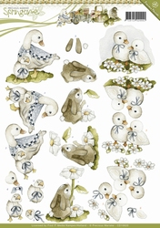 3D Knipvel Precious Marieke CD10620 Springtime Animals
