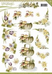 3D Knipvel Precious Marieke CD10618 Springtime Spring flower