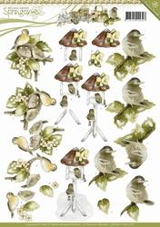 3D Knipvel Precious Marieke CD10617 Springtime Young Birds