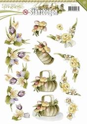 3D Stansvel Precious Marieke SB10083 Springtime Flowers