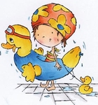 MD clear stamps Don & Daisy DDS3348 Swimming Daisy