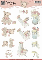 3D Knipvel Jeanines Art CD10599 Geboorte/baby