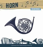 Music Serie Die MUSD10002 Horn/hoorn
