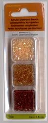 Trio Diamond Shape goud/topaas/bruin