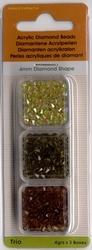 Trio Diamond Shape groen/geel/bruin