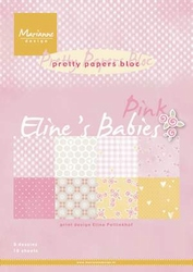 MD Pretty Papers bloc PB7050 Eline's babies pink