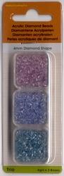 Trio Diamond Shape lila/blauw/aqua