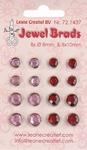 LeCreaDesign Jewel brads 721437 bordeaux / light pink