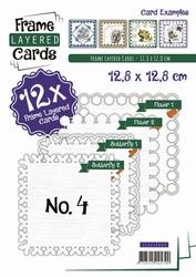 Linnen Layered Frame Cards LC4K10004/- 4kant